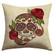 DENY Designs Valentina Ramos Sugar Skull Outdoor Throw Pillow, 50cm by 50cm