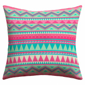 DENY Designs Iveta Abolina Pink Navajo Outdoor Throw Pillow, 46cm by 46cm
