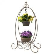 Panacea Over Sized Basket Hanger with Shelf Bronze, 130cm