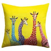 DENY Designs Clara Nilles Jellybean Giraffes Outdoor Throw Pillow, 41cm by 41cm