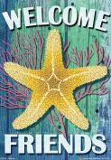 Coastal Star Welcome Nautical Garden Flag