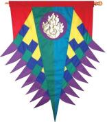 Premier Kites 53212 Progressive Hanging Banner, Flame, Rainbow
