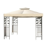 3m X 3m Garden Canopy Gazebo Replacement Top Ivory White