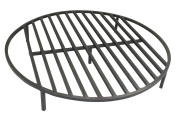 Round Fire Pit Grate 80cm Heavy Duty Grill Cooking Campfire Camp Ring 1.3cm Steel