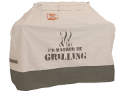 Yukon Glory 8252 Medium Universal Cover with dual secure features for Grills up to 160cm Wide I'D RATHER BE GRILLING