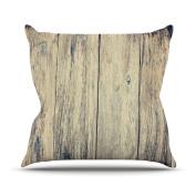 Kess InHouse Beth Engel Wood Photography II Outdoor Throw Pillow 16 by 16 Inc