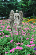 Attraction Design Antiqued Metal Garden Angel, 80cm Height
