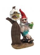 5 O'clock Somewhere Beach Bum Gnome Statue