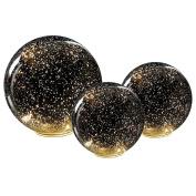 Lighted Mercury Glass Spheres - Set Of Three