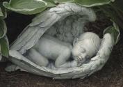 37cm Joseph's Studio Sleeping Baby in Angel Wings Outdoor Garden Figure Statue