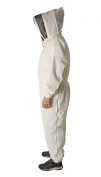 Ultra Breeze Large Beekeeping Suit with Veil, 1-Unit, White