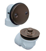 Plumbest B07-13RB Two-Hole Schedule 40 Lift and Turn Full Kit, Oil Rubbed Bronze