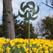 Crescent Moon Kinetic Garden Art