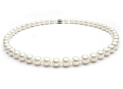 """TreasureBay Stunning 8-9mm Freshwater Pearl Necklace 43cm/17.2"""" - Presented in a Beautiful Jewellery Gift Box"""