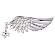 JTC Vintage Wing Suit Brooch Pin Festive Christmas Gift Silver Tone