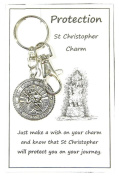 W135 - Wish Charm Keyring - Protection - St Christopher Charm Handmade by Jeannieparnell