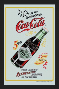 Empire 537287 Printed Mirror with Plastic Frame with Wood Effect Featuring Coca Cola 5 Cents 20 x 30 cm
