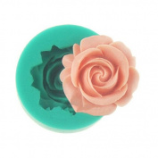 DDU(TM) Rose Flower Double Sugar Cake Chocolate Jelly Pudding Cake Baking Decorating Model DIY Tool