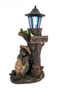 Turtle Won the Race Solar LED Welcome Statue Lantern