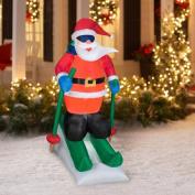 Christmas Decor Airblown Inflatable 2m Santa Skiing