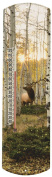 Heritage America by MORCO 375EA Elk in Aspen Outdoor or Indoor Thermometer, 50cm