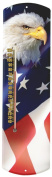 Heritage America by MORCO 375BE-FLAG Bald Eagle with Flag Outdoor or Indoor Thermometer, 50cm