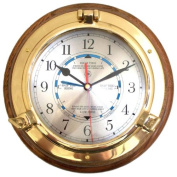 24cm Porthole Time and Tide Wall Clock