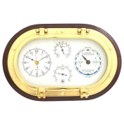 30cm Porthole Wall Clock,Tide Clock,Thermometer, and Hygrometer