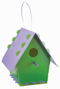 Tweet Tweet Home Bird House Classic Green Purple