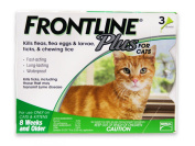 Merial Frontline Plus Flea and Tick Control for Cats and Kittens, 3 Doses, For Cats 8 Weeks and Older