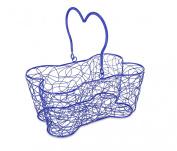 Buddy's Line Multi-Purpose Bone-Shaped Wire Basket, 36cm , Blue