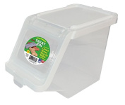 Buddeez 12-Cup Capacity Treat Containers, Clear/White