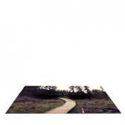 """Kess InHouse Leah Flores """"Find Your Adventure"""" Nature Quote Pet Bowl Placemat for Dog and Cat Feeding Mat, 60cm by 38cm"""