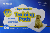 All-absorb Training Pads 100-count, 60cm By 60cm