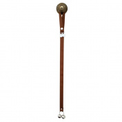 PoochieBells Dog Housetraining Doorbell in X-Long for Teacup/Small or Timid Dogs, Chocolate Brown