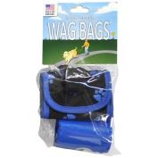 Wag Bags Soft Dispenser Paw Prints BLUE