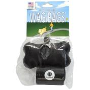 Wag Bags Dispenser Bone BLACK