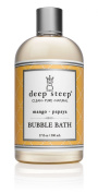 Deep Steep Mango Papaya Bubble Bath - Made with Organic Shea Butter, Organic Jojoba Oil, and 100% All Natural Ingredients - Sulphate Free - Vegan, Non-GMO, Gluten Free, and Cruelty Free, 500ml Bottle