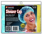 Beauty Town Disposable Shower Cap - 100 Pcs Pack - Assorted