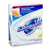 Safeguard Antibacterial Deodorant Soap White With Aloe, 120ml bars, 8 ea pack of 3