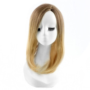 Andao Girls Cosplay Wig Quality Synthetic Wigs Women Beauty Party Decoration Be3159