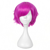 Andao Short Wigs for Women Synthetic Wigs Short Lace Hairpieces Be3015