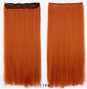 Feshfen One Piece Clip In Hair Extensions Copper Straight 60cm Clip In Hair Extensions Synthetic Hair Extensions