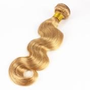 Mxangel Body Wave #27 Honey Blonde Weave Brazilian Human Hair Single Bundle Hair 46cm
