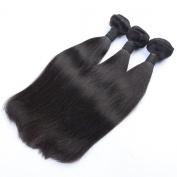 Mxangel Unprocessed Natural Colour Straight Virgin Brazilian Human Hair Weave Extensions 3pcs 70cm Bundles Hair
