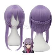 COSPLAZA Anime Cosplay Wigs hiiragi shinoa Seraph of the End Braided Purple Hair