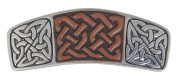 Hair Clip | Barrette | Celtic Knot Leather | Handmade in the USA by Oberon Design