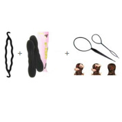 1 Set Topsy Tool Hair Braid Twist Holder Clip Magic Roll Bun for Ponytail Topsytail Tail Styling Maker