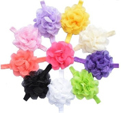 Healthcom 10 Pcs Hair Bows Alligator Clip Grosgrain Ribbon Headbands for Baby,Girls and Young Women