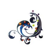 Gem Body Art Tattoo- Back Aquarius